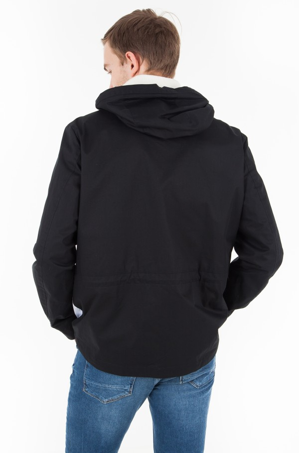 HOODED JKT WITH FLAG ON FRONT-hover