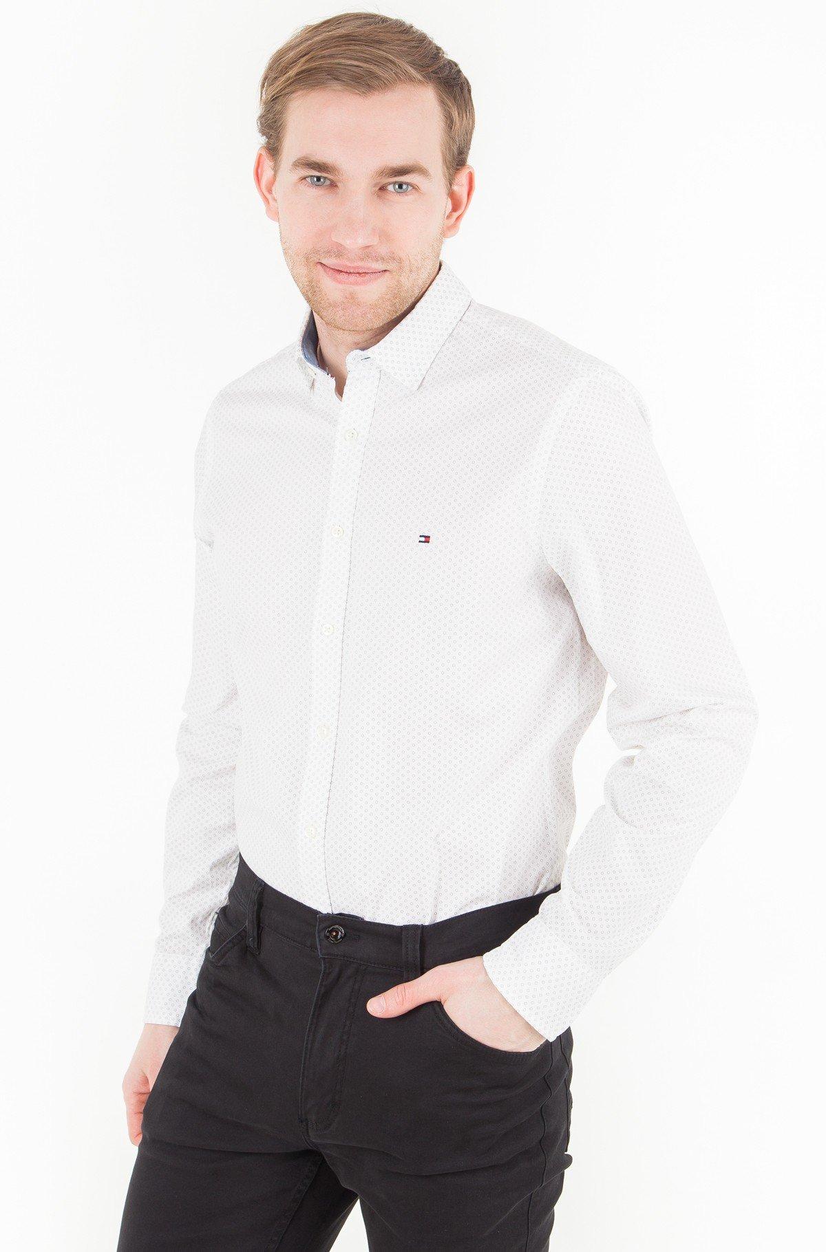 Marškiniai Slim Micro Flower Print Shirt-full-1