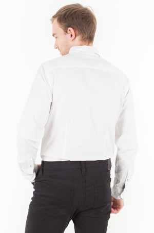 Marškiniai Slim Micro Flower Print Shirt-2