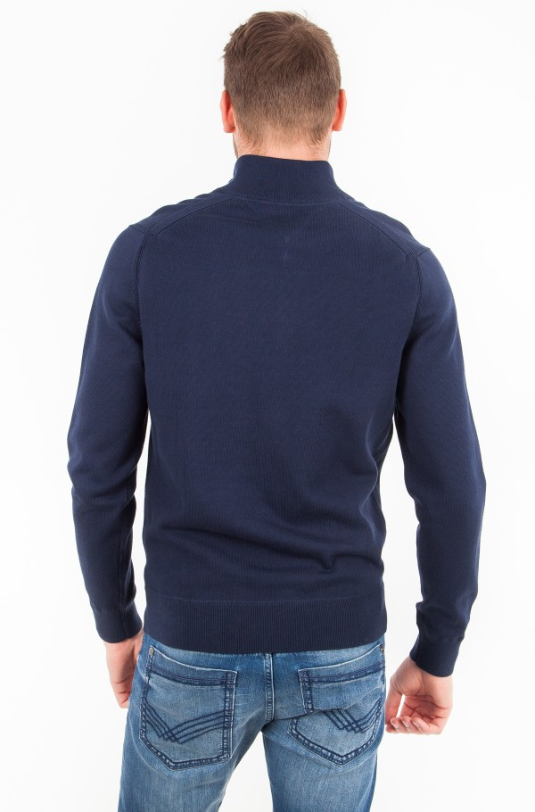 COMPACT COTTON ZIP MOCK NECK-hover