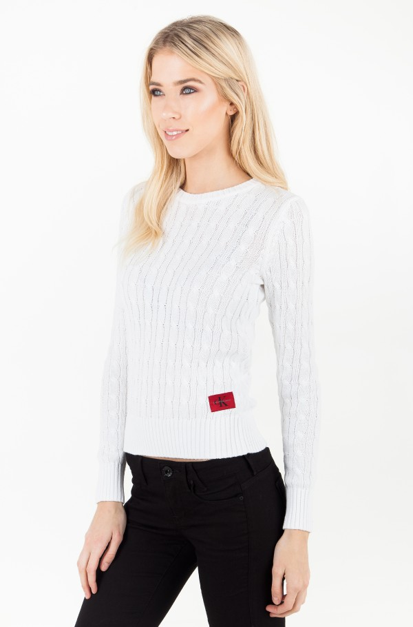 SABLE CN CABLE SWEATER LS