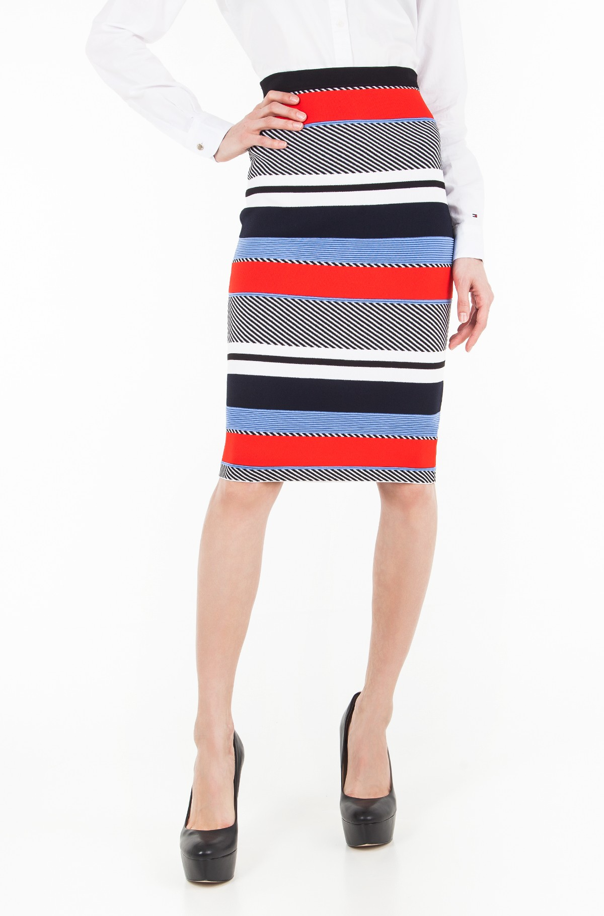 Seelik PILAUX GRAPHIC PENCIL SKIRT-full-1
