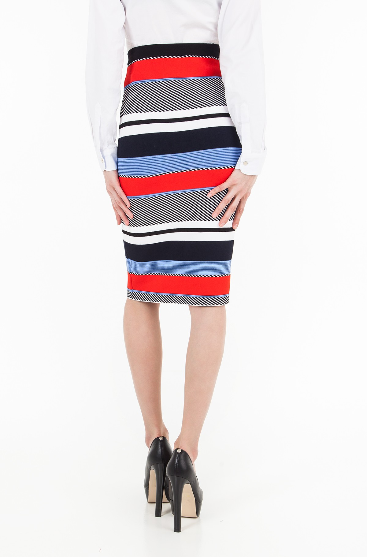 Seelik PILAUX GRAPHIC PENCIL SKIRT-full-2
