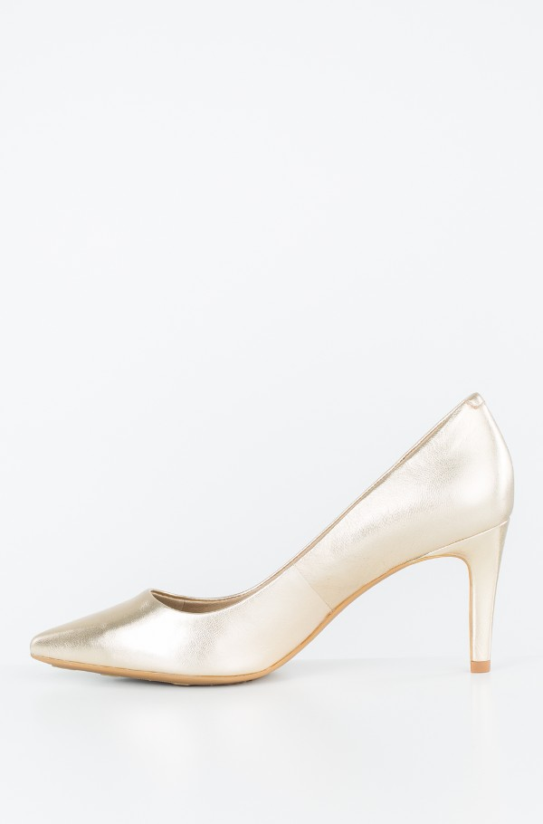 METALLIC POINTED MID HEEL PUMP-hover