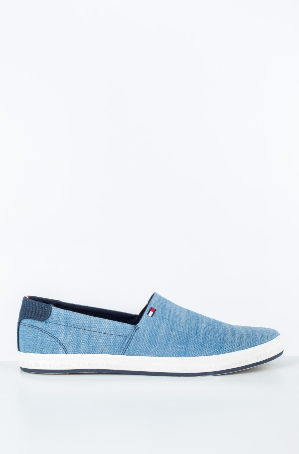 ESSENTIAL PIQUE DENIM SLIP ON