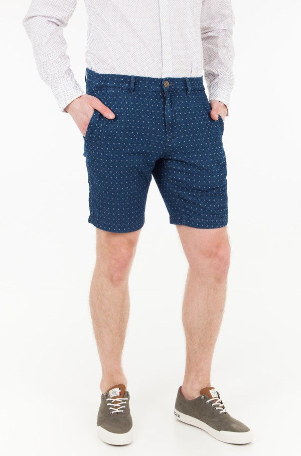 BROOKLYN SHORT CHAMBRAY WOVEN GEO