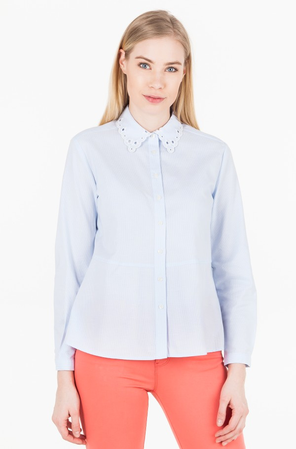 HAVEN A LINE OXFORD SHIRT 7/8 SLV