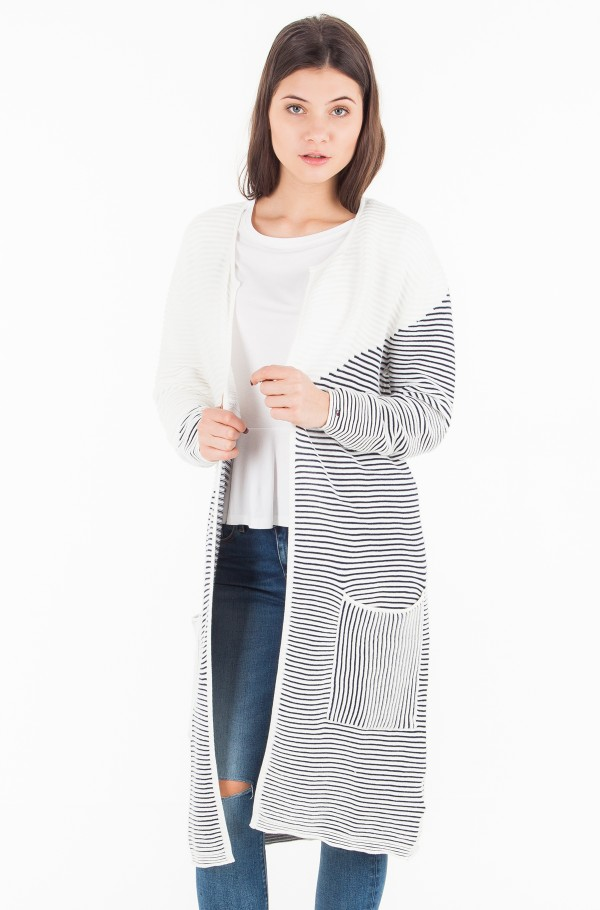 TJW COLOR BLOCK CARDIGAN