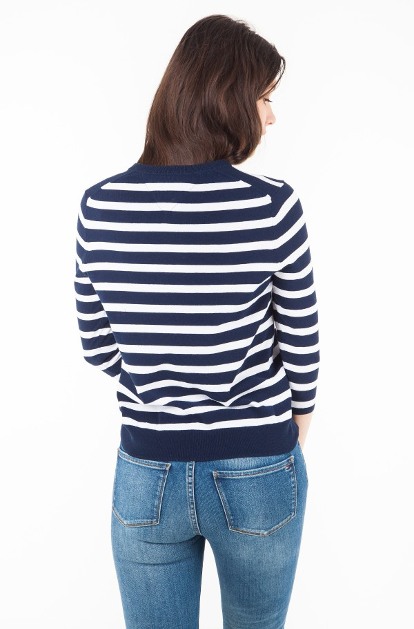 TJW STRIPE BADGE SWEATER-hover
