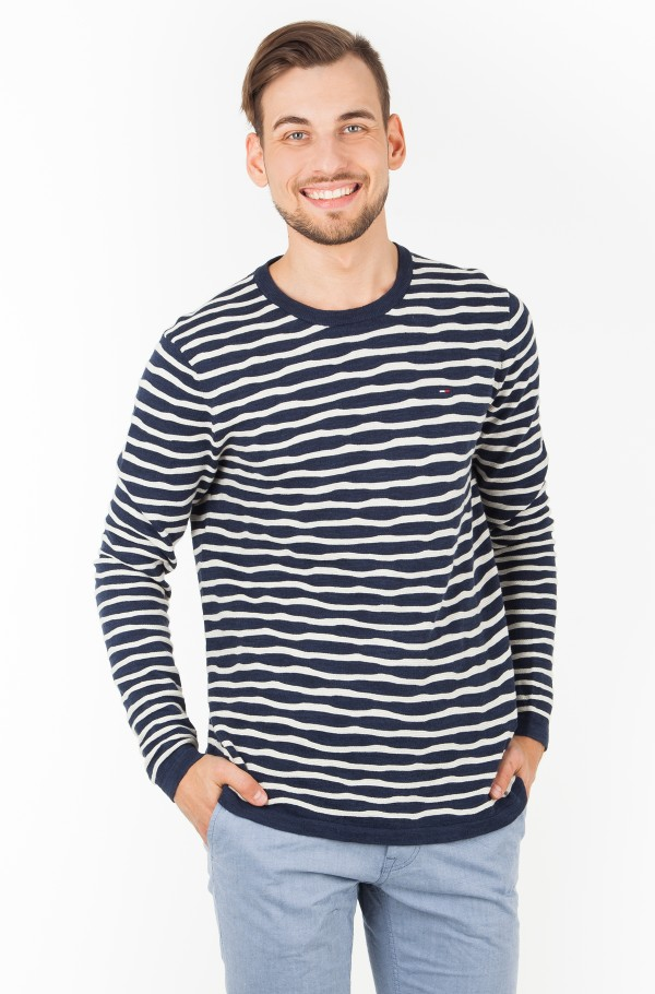 TJM UNEVEN STRIPE SWEATER