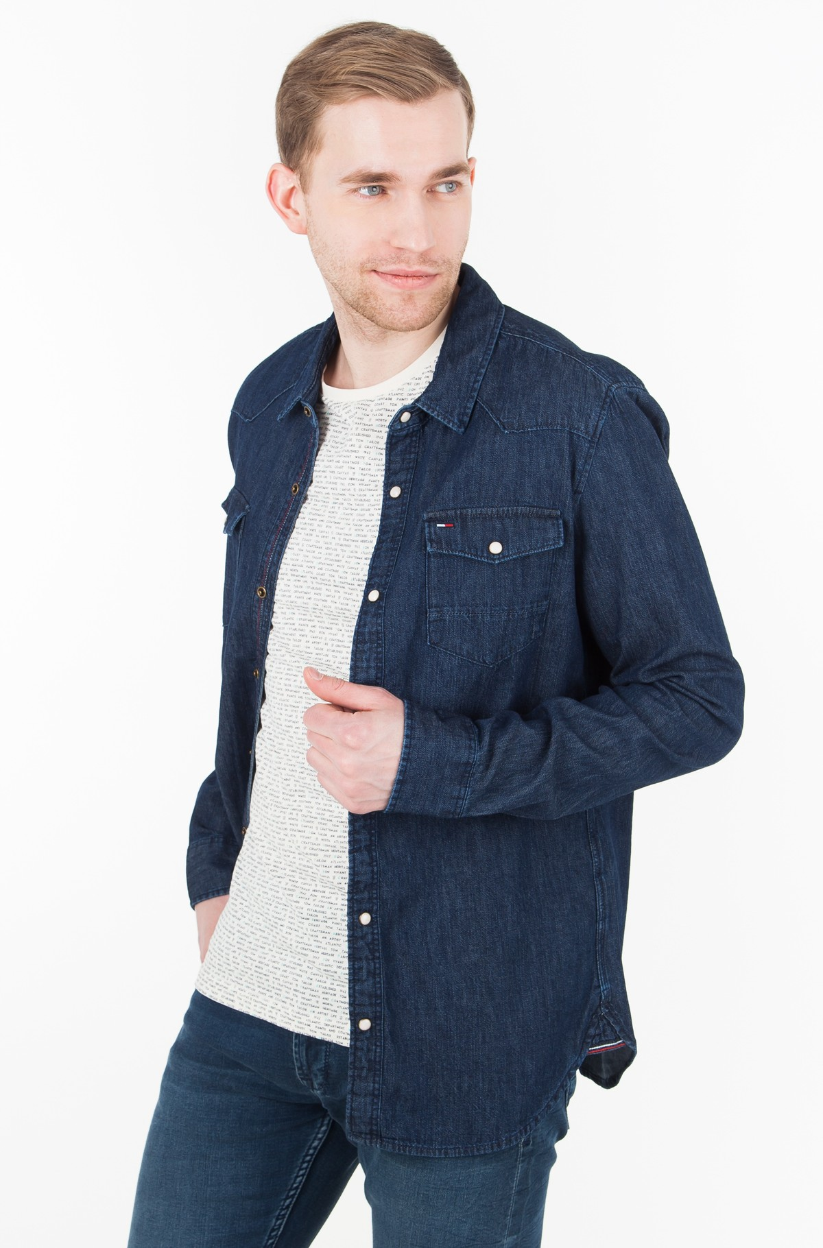 Teksapluus TJM BASIC REG DENIM SHIRT L/S 52	-full-1