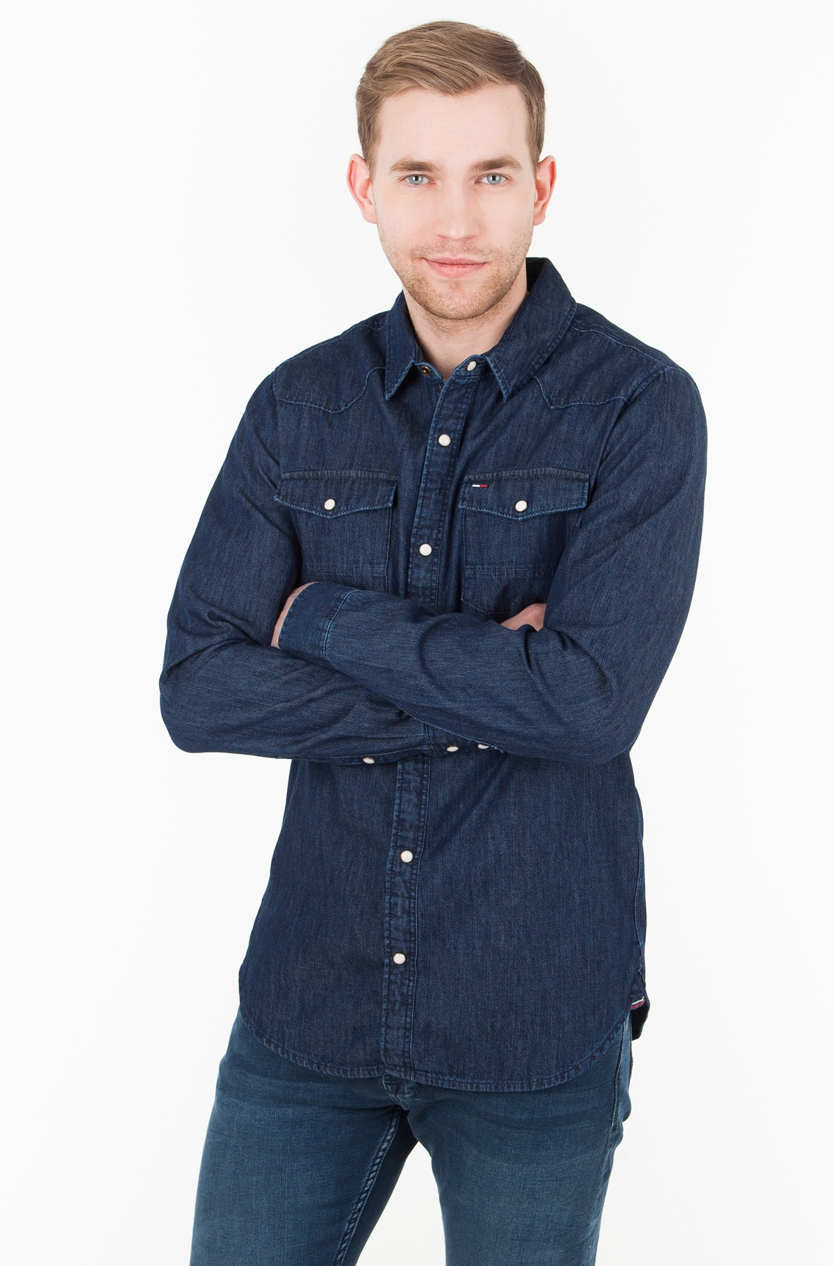 Teksapluus TJM BASIC REG DENIM SHIRT L/S 52	-full-2
