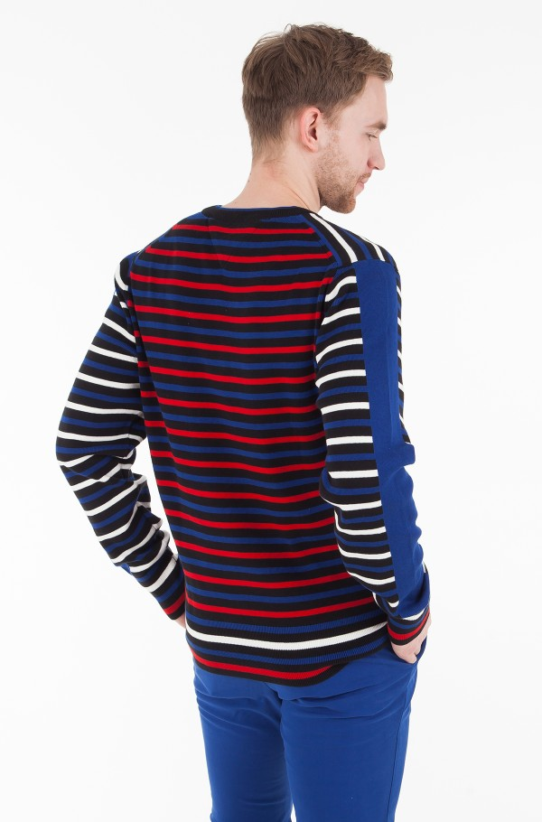 ALL OVER STRIPED SWEATER-hover