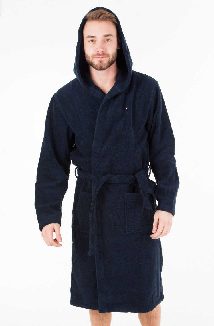 Tommy Hilfiger Mens Icon Hooded Bathrobe