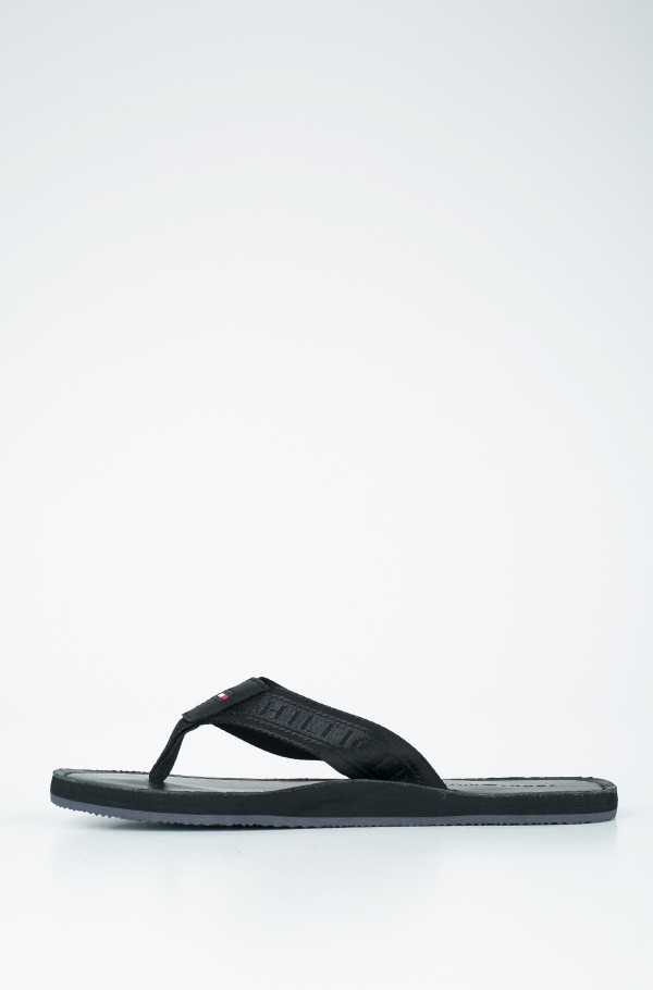 JACQUARD TH LEATHER BEACH SANDAL-hover