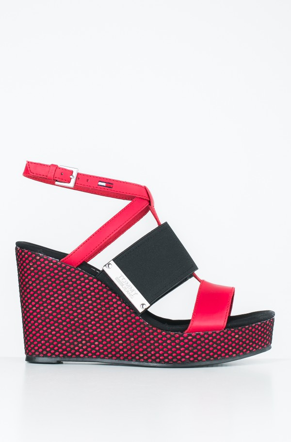 MATERIAL MIX WEDGE SANDAL