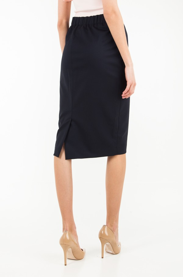 LEAN PENCIL MIDI SKIRT-hover