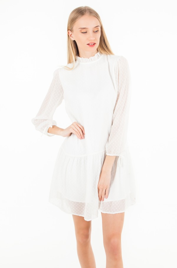 TJW RUFFLE DOBBY DRESS