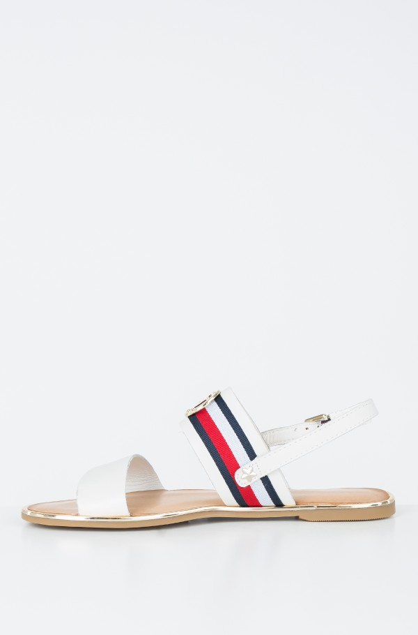 CORPORATE RIBBON FLAT SANDAL-hover