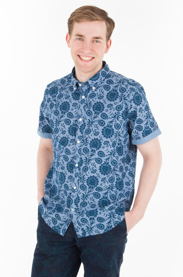 SLIM FLOWER PRINT SHIRT S/S