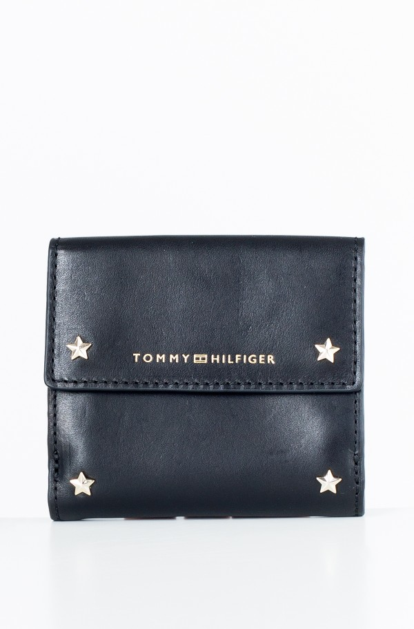 STAR STUDDED LEATHER SM FLAP WALLET