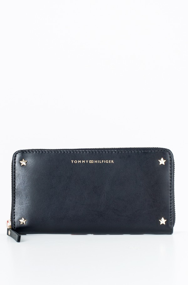 STAR STUDDED LEATHER LRG ZA WALLET