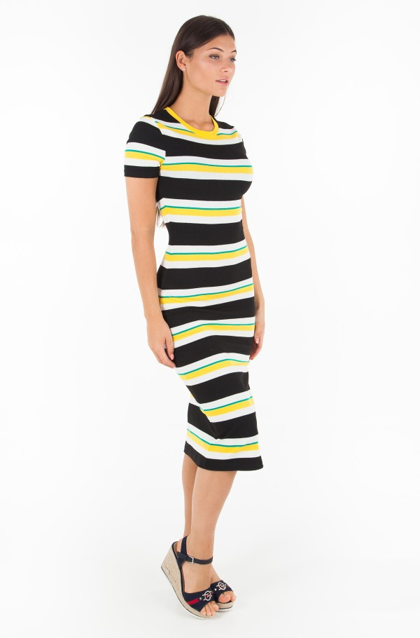 TJW RIB STRIPE TEE DRESS
