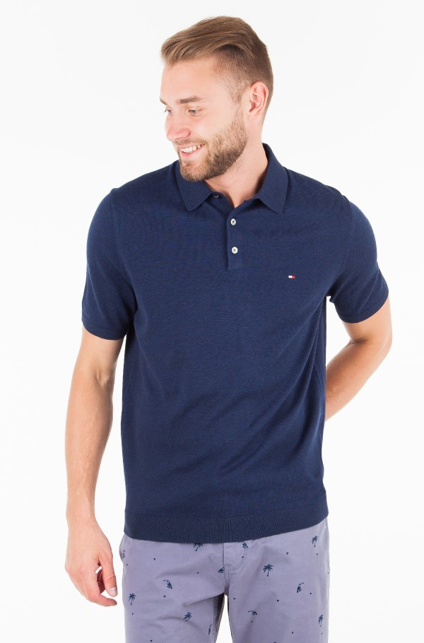 COTTON SILK KNITTED POLO