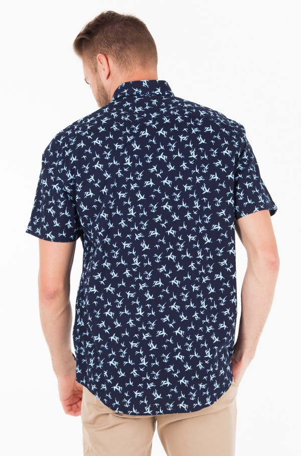 BAMBOO LEAF PRINT SHIRT S/S-hover