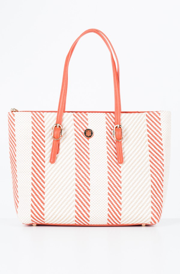 TH BUCKLE TOTE WOVEN