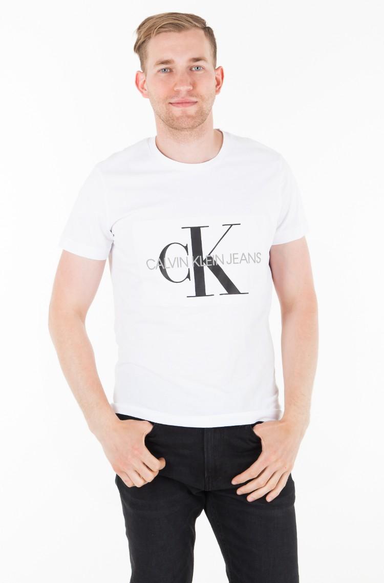 62a45644 White T-shirt CORE MONOGRAM BOX LOGO SLIM TEE Calvin Klein, Womens ...
