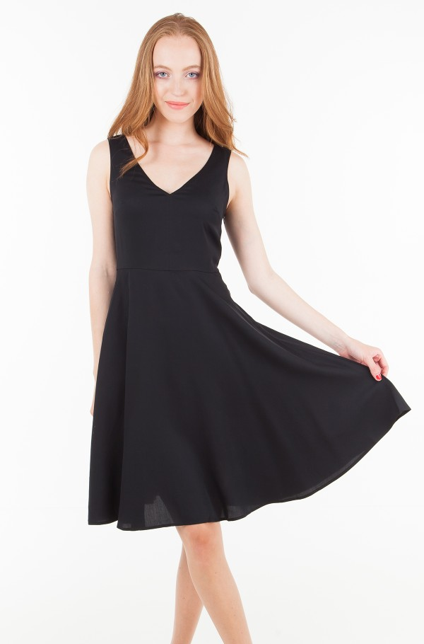 TENCEL SLEEVELESS FIT AND FLARE DRESS