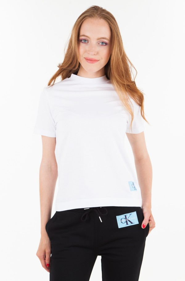 MONOGRAM LOGO BADGE BOXY FIT TEE