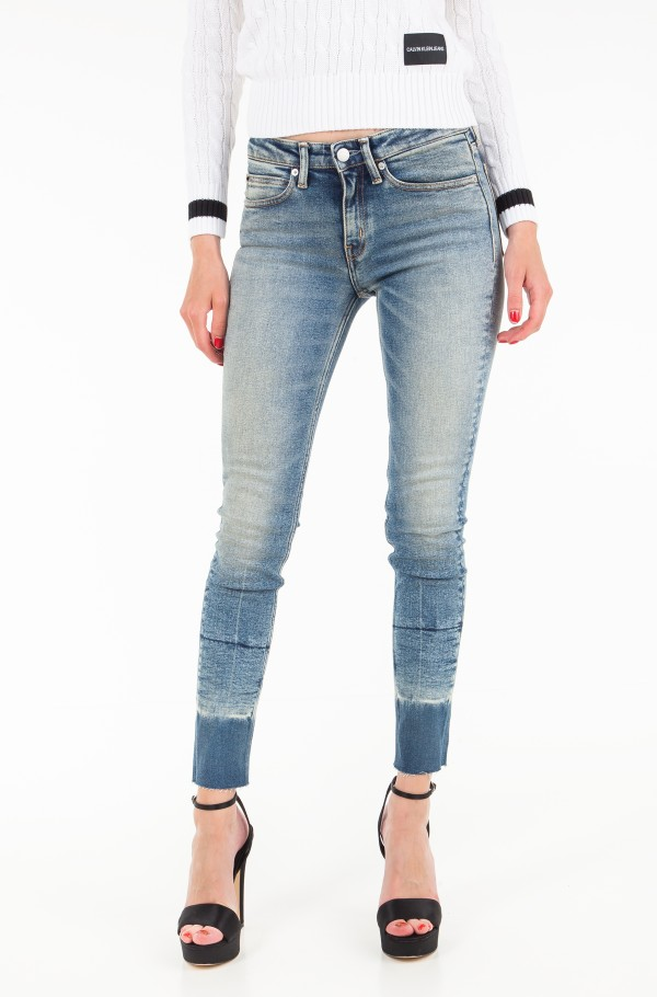 CKJ 011: Mid Rise Skinny West Ankle