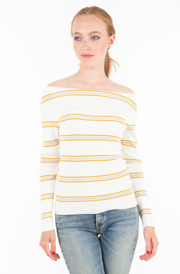 TJW OFF SHOULDER RIB SWEATER