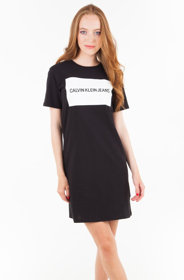 INSTITUTIONAL BOX LOGO T-SHIRT DRESS