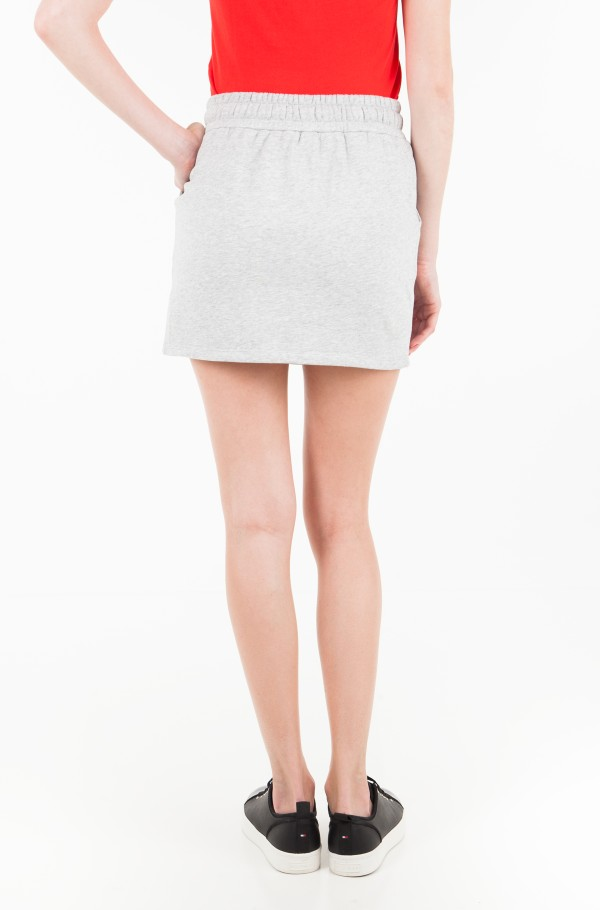MONOGRAM LOGO BADGE KNIT SKIRT-hover