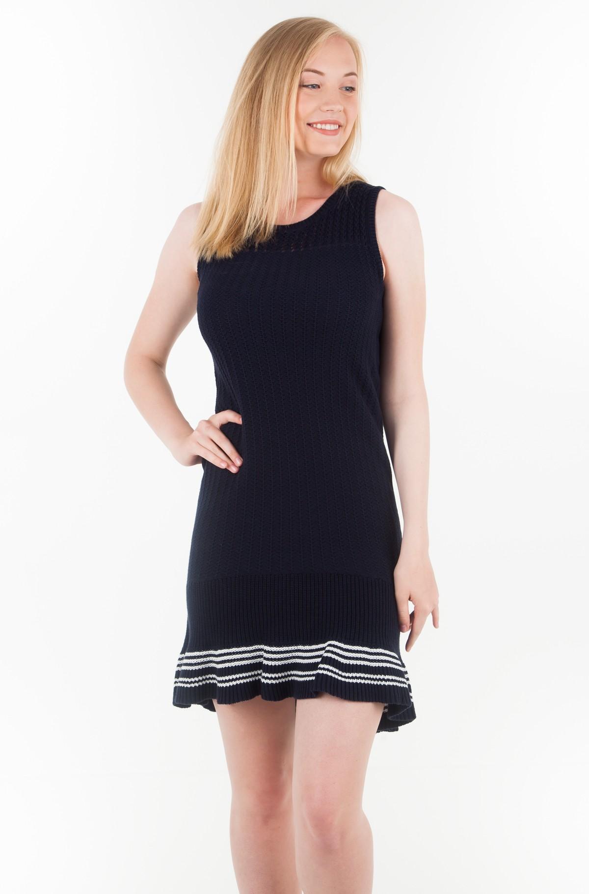 Kootud kleit VALESKA C-NK RUFFLE HEM DRESS-full-1