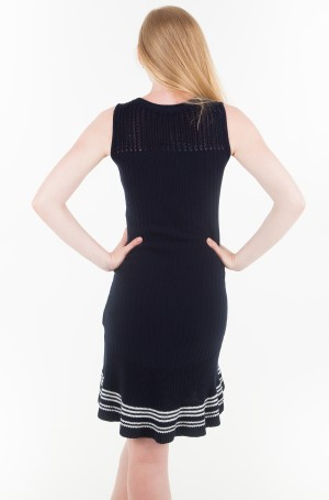 Kootud kleit VALESKA C-NK RUFFLE HEM DRESS-2