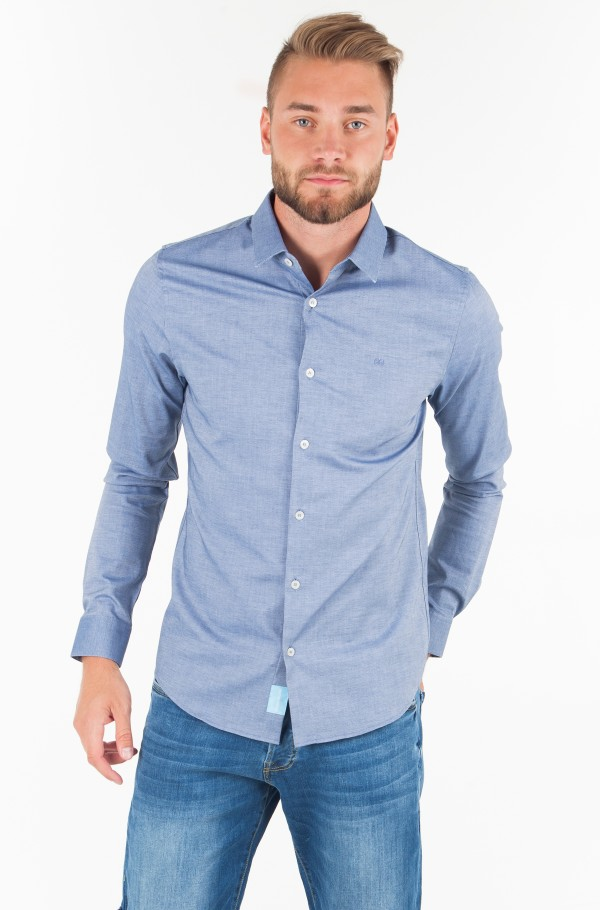 COTTON STRETCH DOBBY SLIM FIT SHIRT