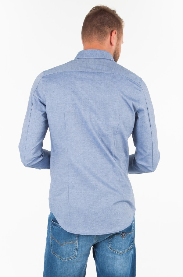 COTTON STRETCH DOBBY SLIM FIT SHIRT-hover