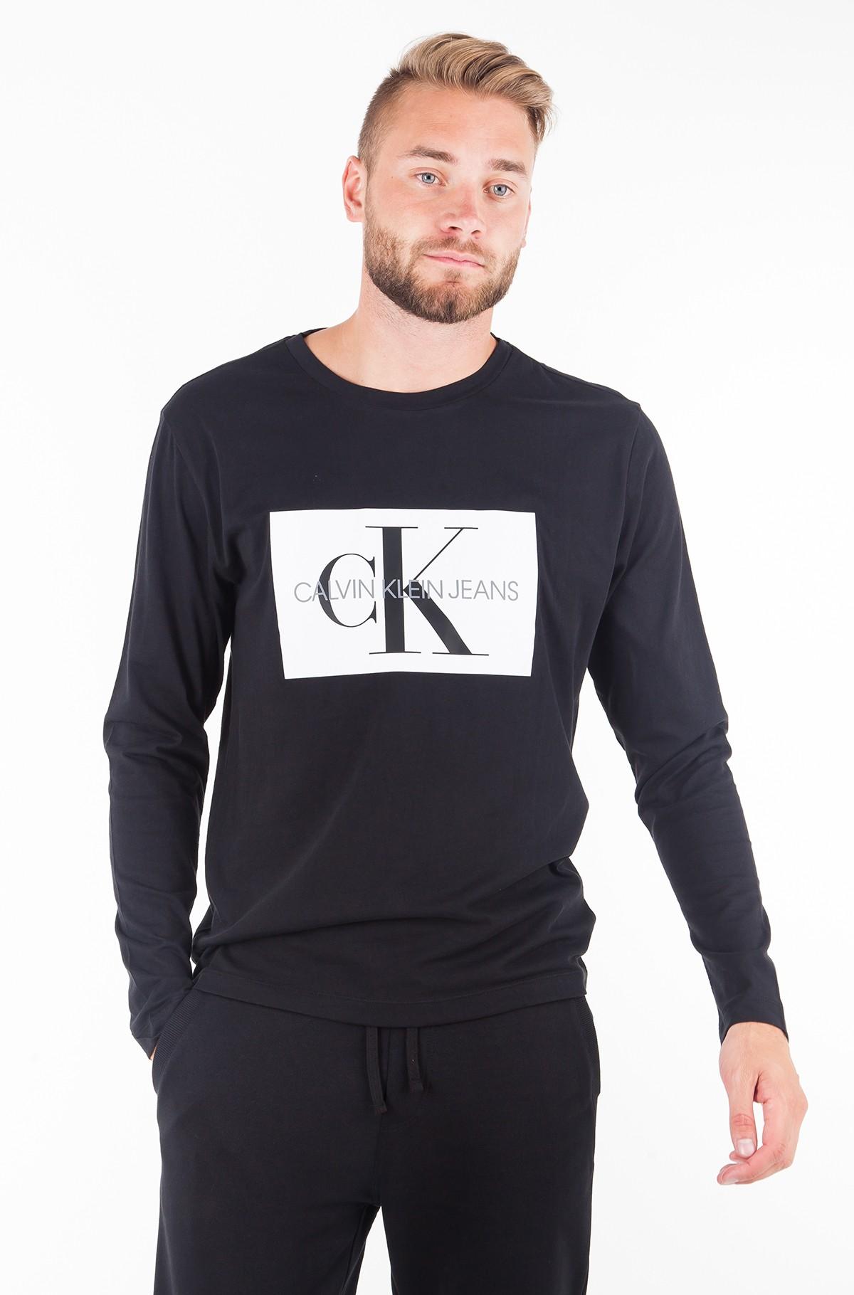 T-krekls ar garām piedurknēm  MONOGRAM BOX LOGO COTTON LONG SLEEVE TEE-full-1