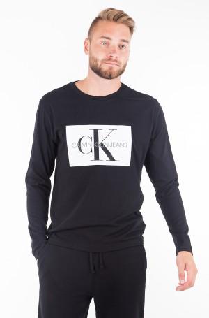 T-krekls ar garām piedurknēm  MONOGRAM BOX LOGO COTTON LONG SLEEVE TEE-1