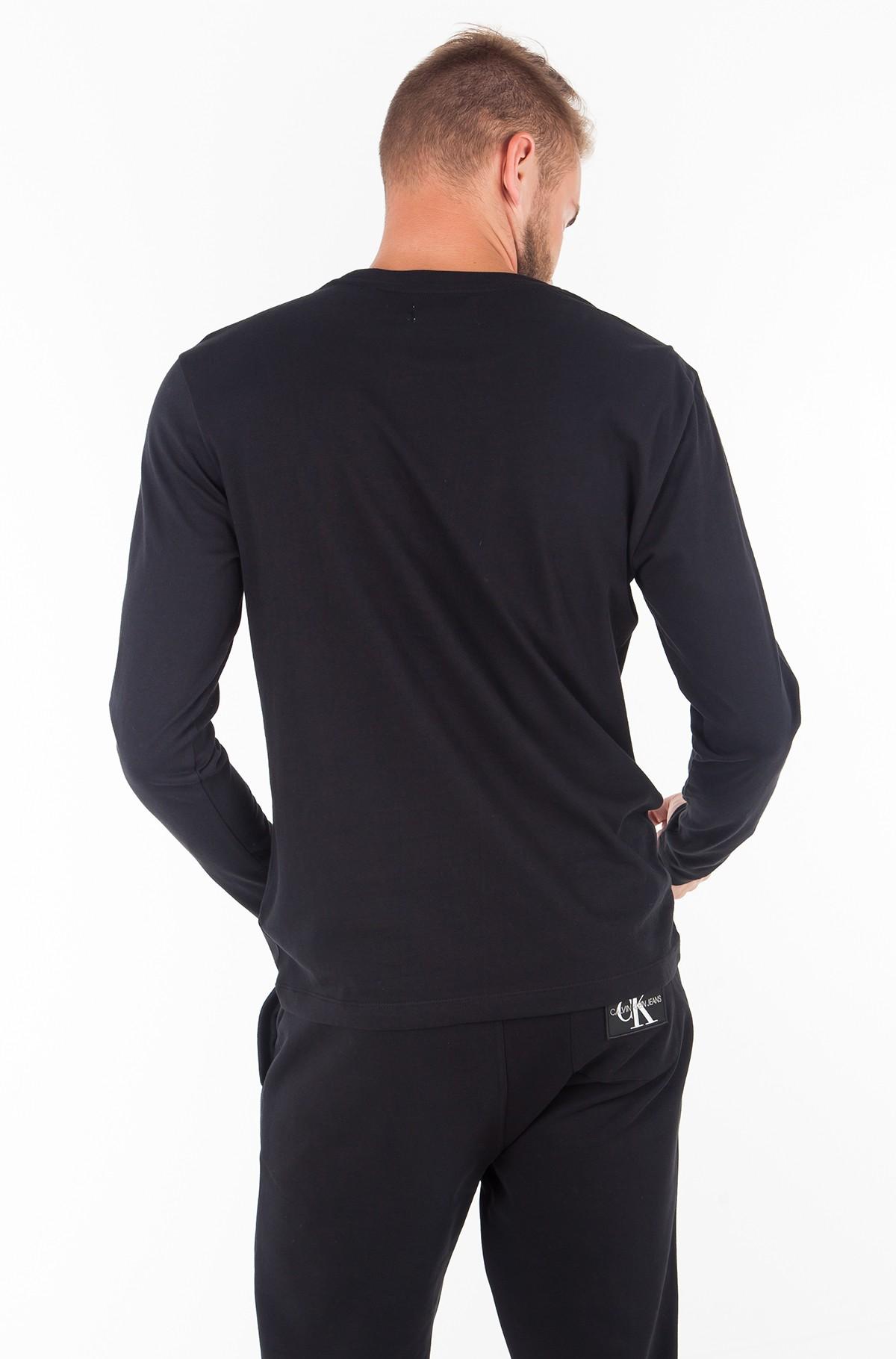 T-krekls ar garām piedurknēm  MONOGRAM BOX LOGO COTTON LONG SLEEVE TEE-full-2