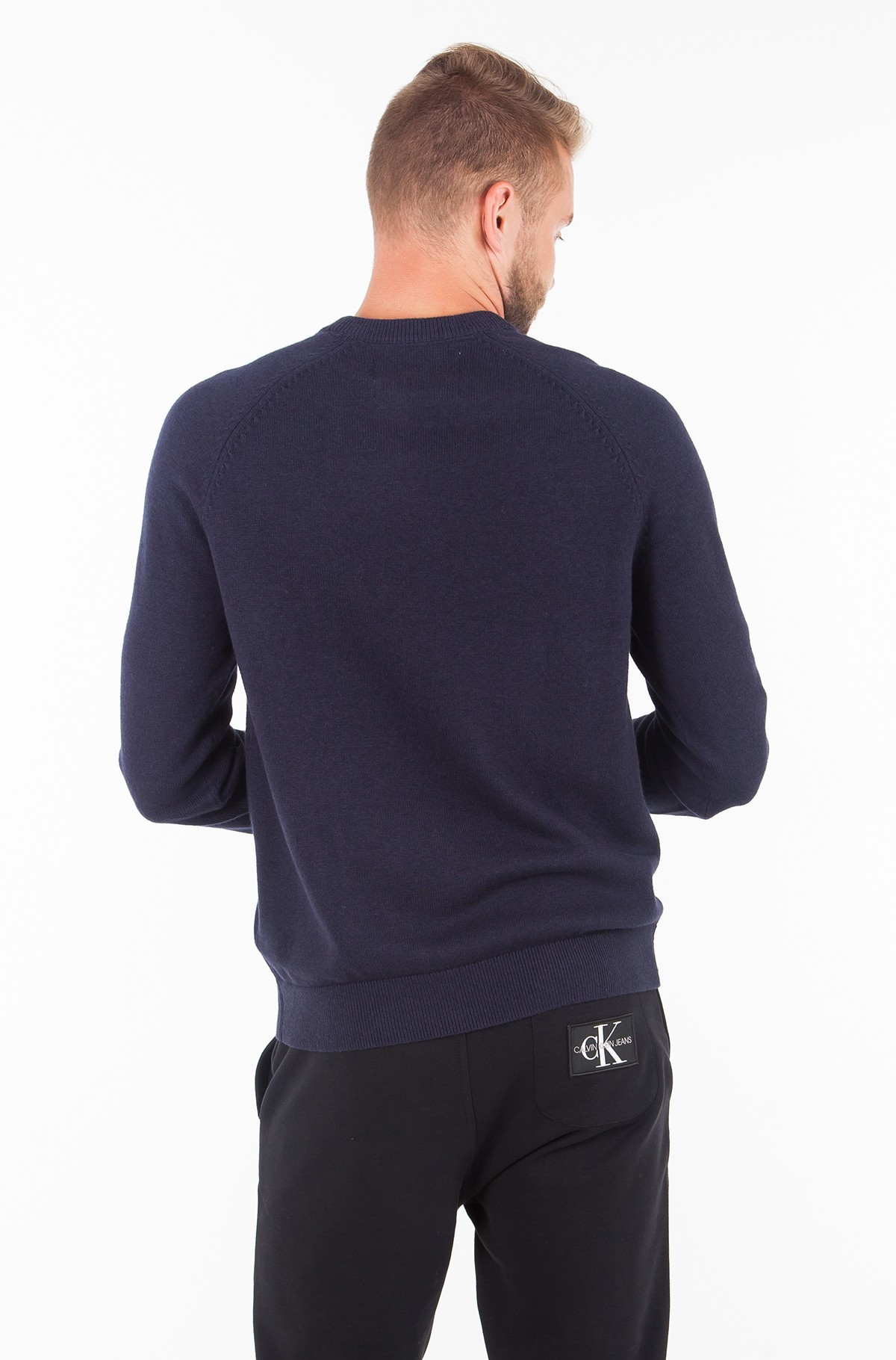 Kampsun WOOL BLEND INSTITUTIONAL LOGO SWEATER-full-2
