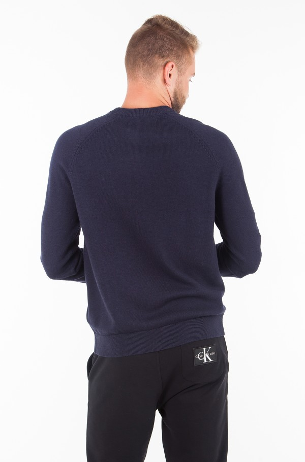 WOOL BLEND INSTITUTIONAL LOGO SWEATER-hover