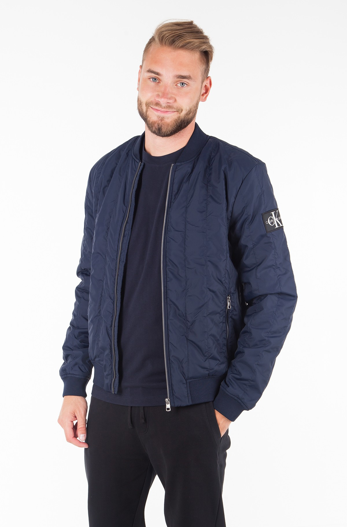 Jacket DOUBLE SIDE POCKET QUILTED BOMBER-full-1