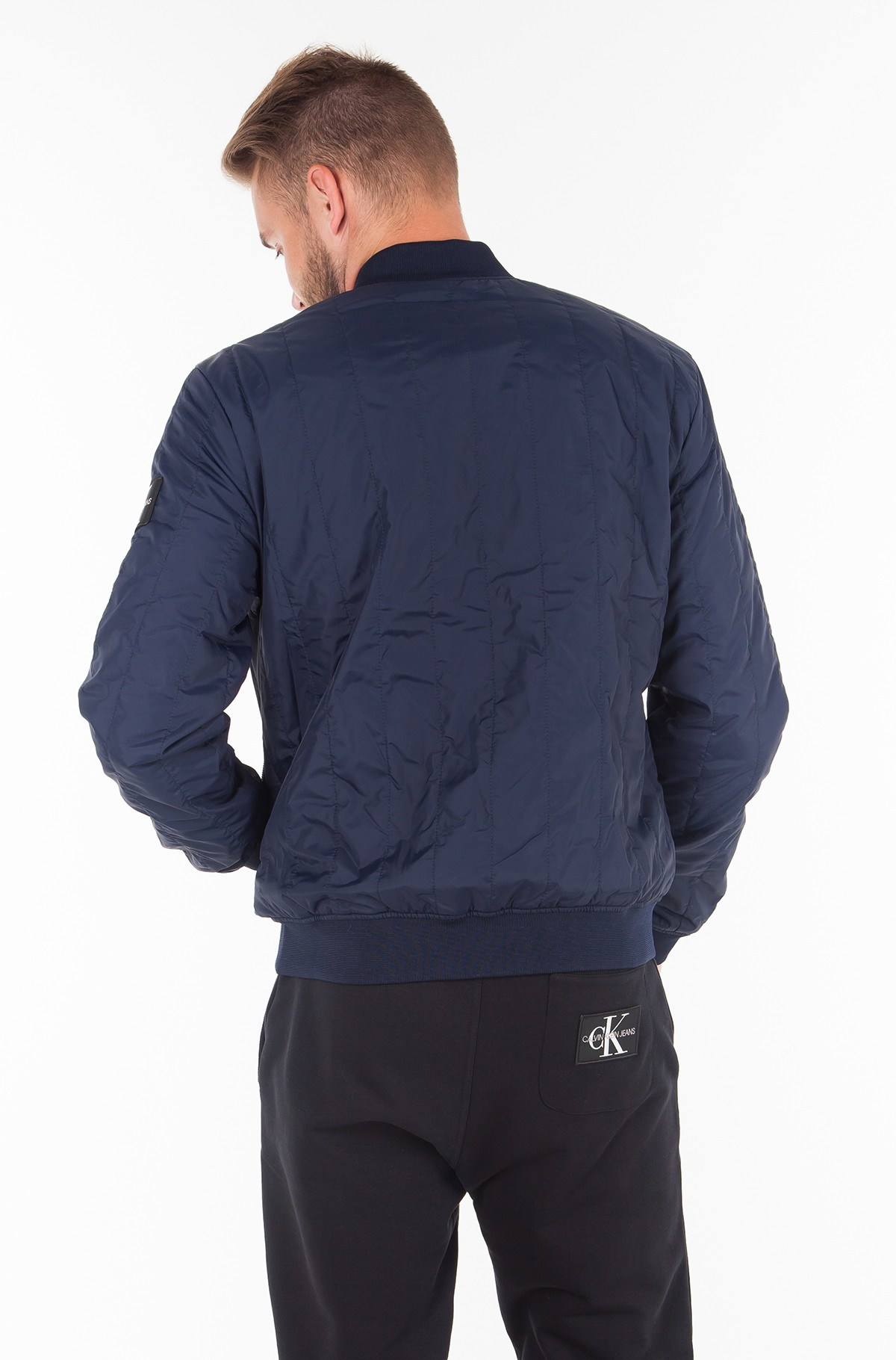 Jacket DOUBLE SIDE POCKET QUILTED BOMBER-full-3