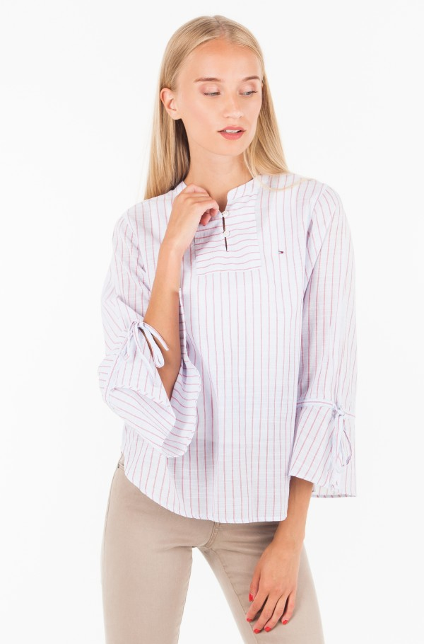 TJW STRIPED SLEEVE DETAIL BLOUSE EUR