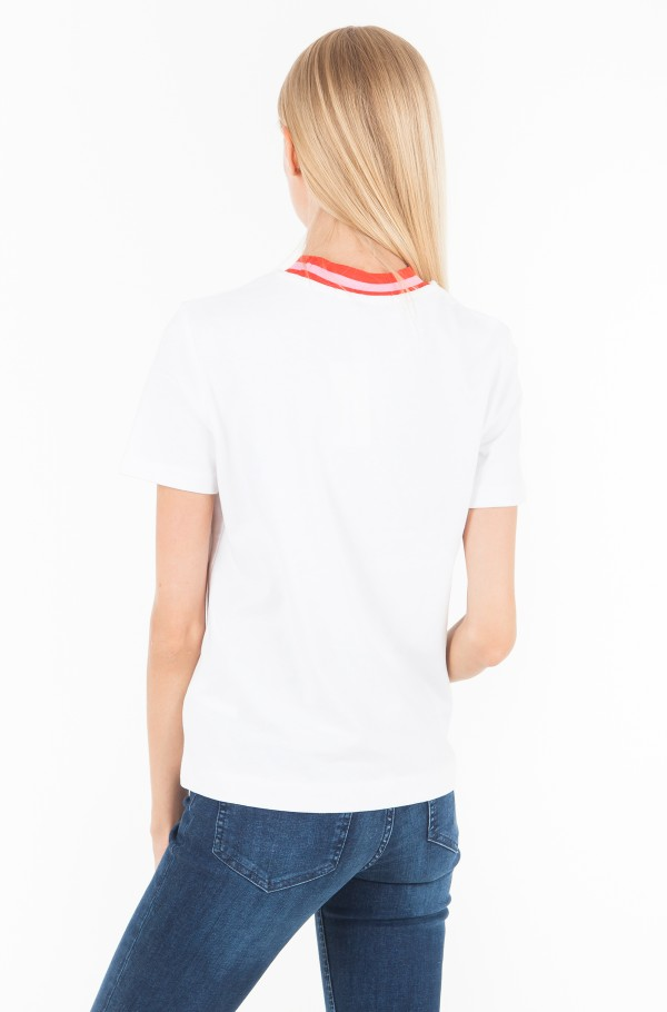 CONTRAST NECK BOXY T-SHIRT-hover